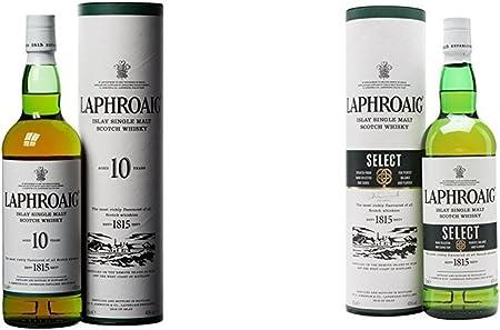 Laphroaig - Whisky Islay Single Malt, 10 años, 70 cl + Laphroaig - Whisky Select, 70 cl