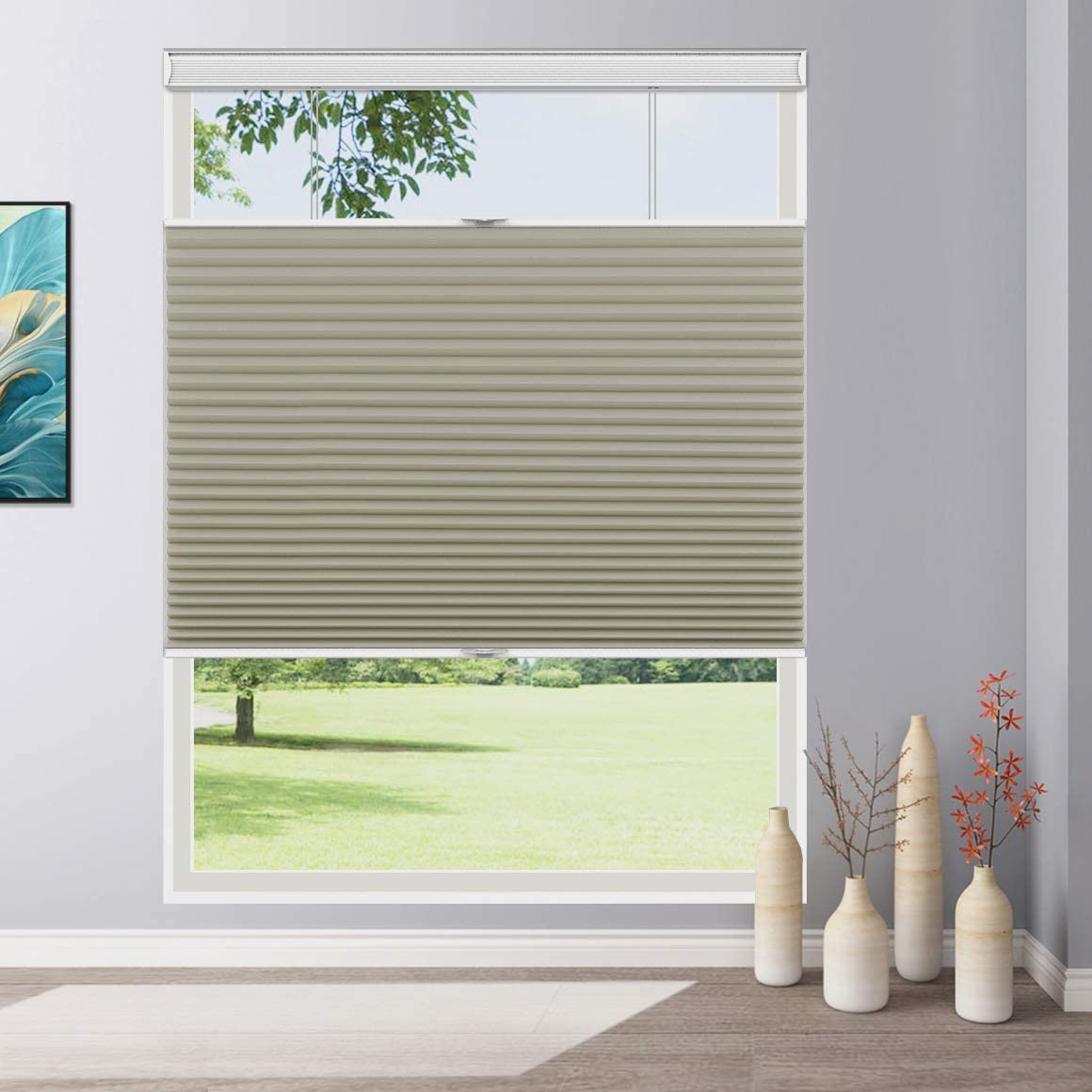 Keego Window Shades Top Down Bottom Up Cellular Blinds For Window Custom Blackout Cordless Thermal Honeycomb Shades And Blinds Apricot Any Size 24 48 Wide And 24 78 High Home Kitchen