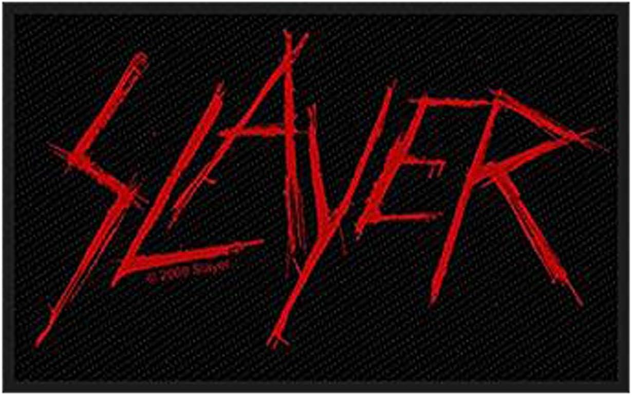 Slayer Aufn/äher SCRATCHED LOGO Aufn/äher gewebt