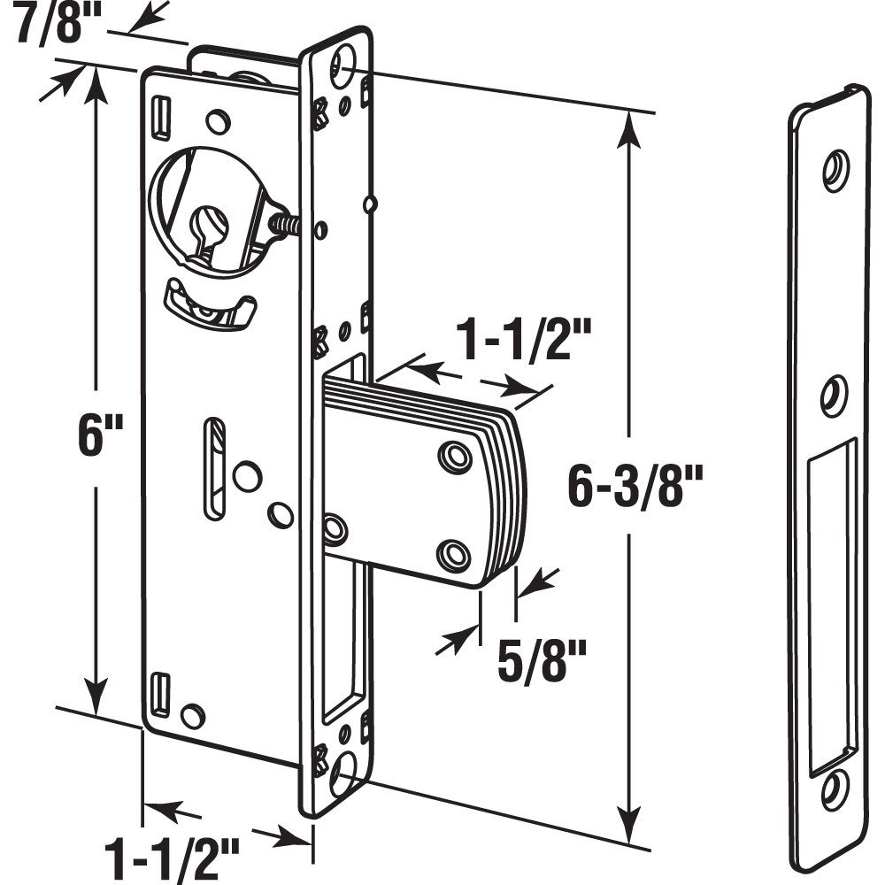 Prime-Line J 4526 Entry Door Deadbolt Lock, 1-1/8 in. Backset, Anodized Aluminum Plate, Steel Housing, Pack of 1 by Prime-Line (Image #2)