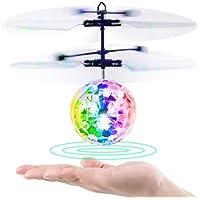 Baztoy Fliegendes Spielzeug, RC Fliegender Ball, Spielzeug für Jungs, Infrarot-Induktions-Hubschrauber, Drohne mit bunt leuchtendem LED-Licht und Fernbedienung für Kinder, Geschenke für Jungen und Mädchen, Indoor-und Outdoor-Spiele