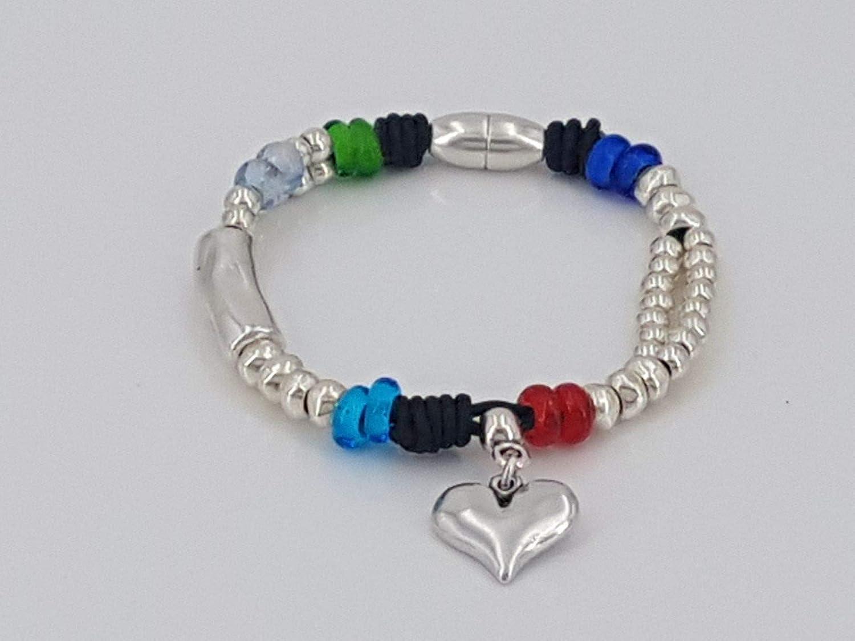 handmade boho bracelet silver bracelet woman bracelet kukuri bracelet leather bracelet, woman Bracelet leather bracelet
