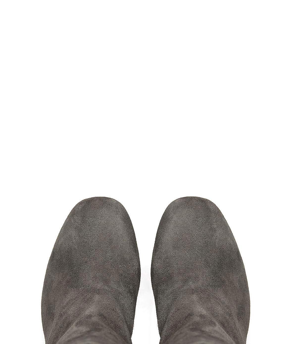 Poi Taupe Lei Damen-Schuhe Plateaustiefeletten Tara Taupe Poi Blockabsatz Veloursleder 274a26