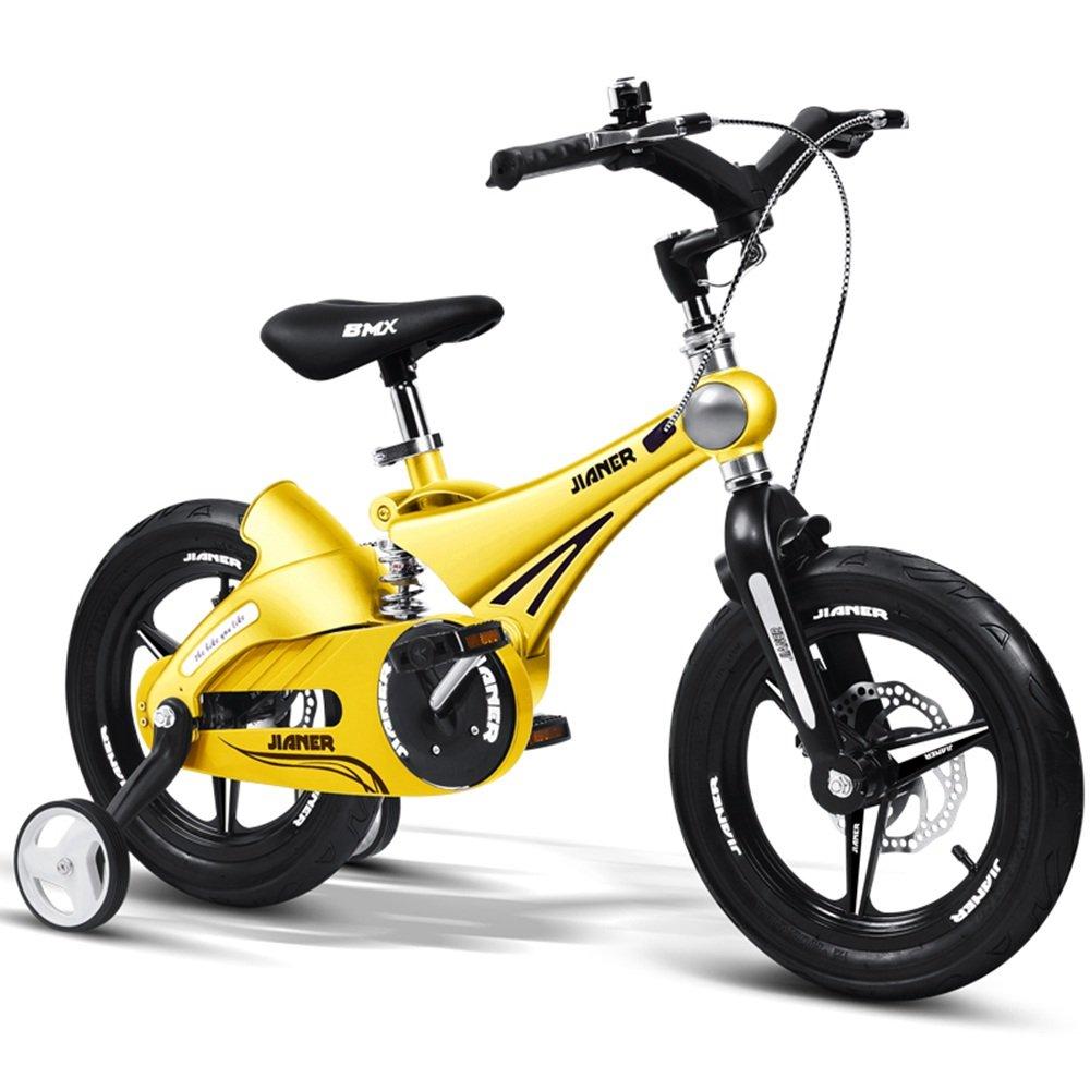 LVZAIXI 子供用バイク、ベビーカー、マウンテンバイク、自転車、子供用自転車、自転車(サイズ:87 * 50 * 38cm) ( 色 : イエロー いえろ゜ , サイズ さいず : 16Inch ) B07BW8VWJ6 16Inch|イエロー いえろ゜ イエロー いえろ゜ 16Inch