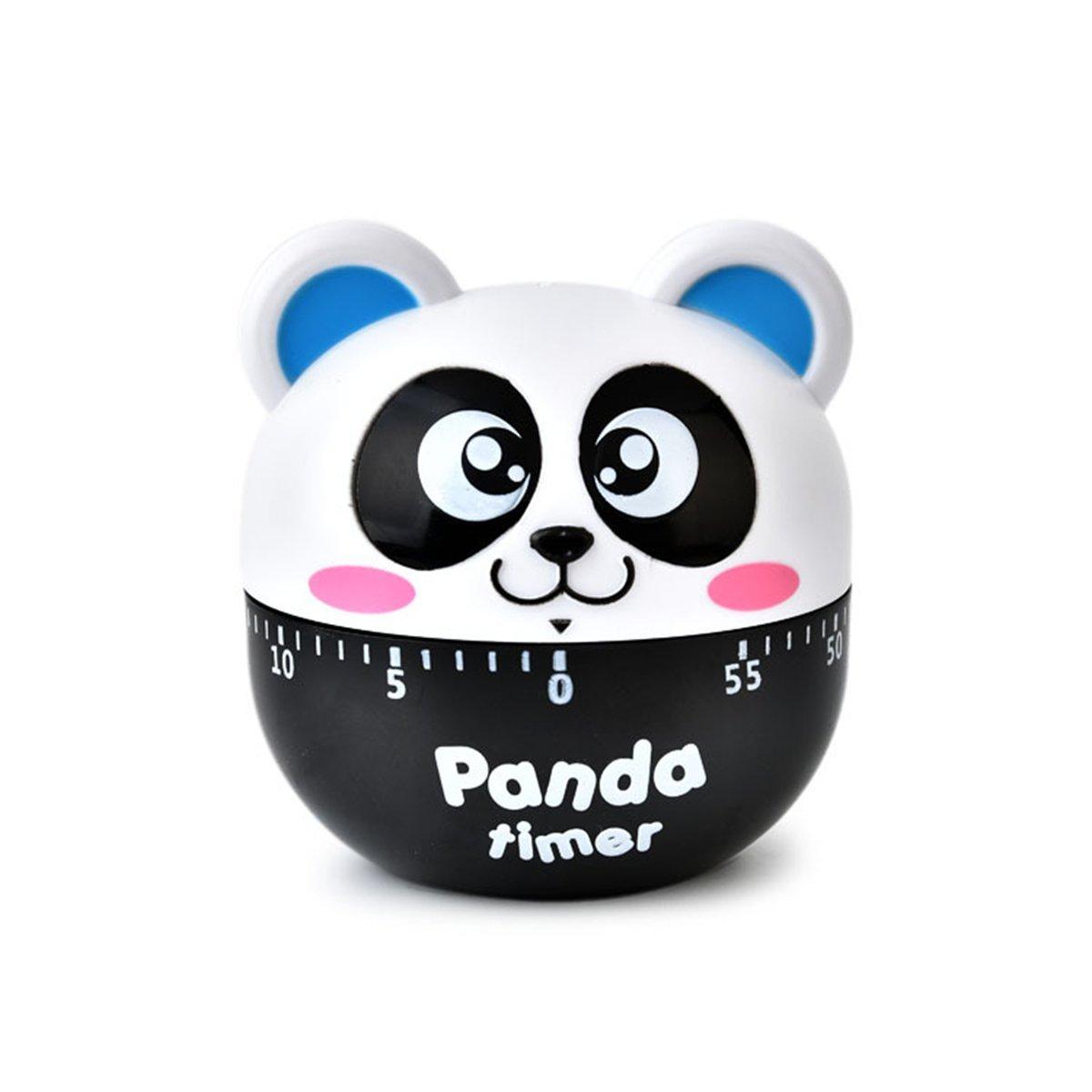 Kids Mechanical Countdown Timer,Lovely Panda Animal Kitchen Timer(Blue)
