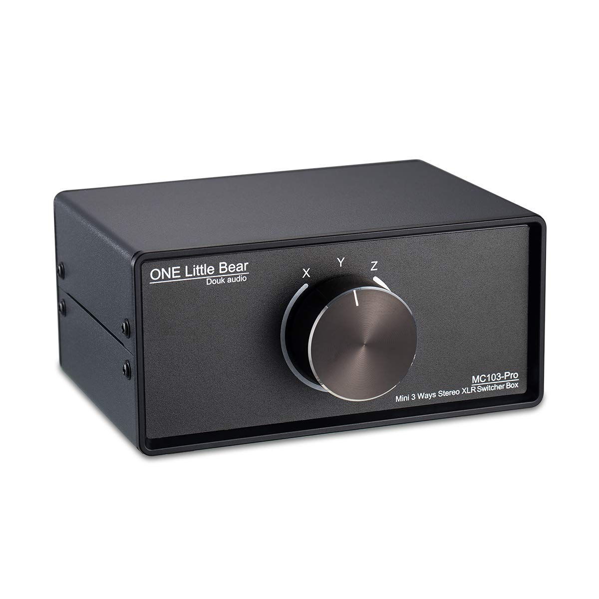 3 v/ías, est/éreo, Interruptor selector de Audio Conversor de Audio equilibrado Nobsound 3-IN-1-OUT XLR