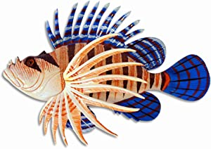 Handpainted Tropical Lionfish Lion Fish Replica Wall Mount Decor Plaque 8