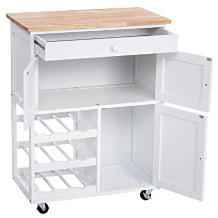 Modern portable kitchen island Cheap Kitchen White Modern Rolling Kitchen Island Serving Utility Cart Dining Portable Mobile Trolley Solid Construction Spacious Drawer Amazoncom Amazoncom White Modern Rolling Kitchen Island Serving Utility Cart