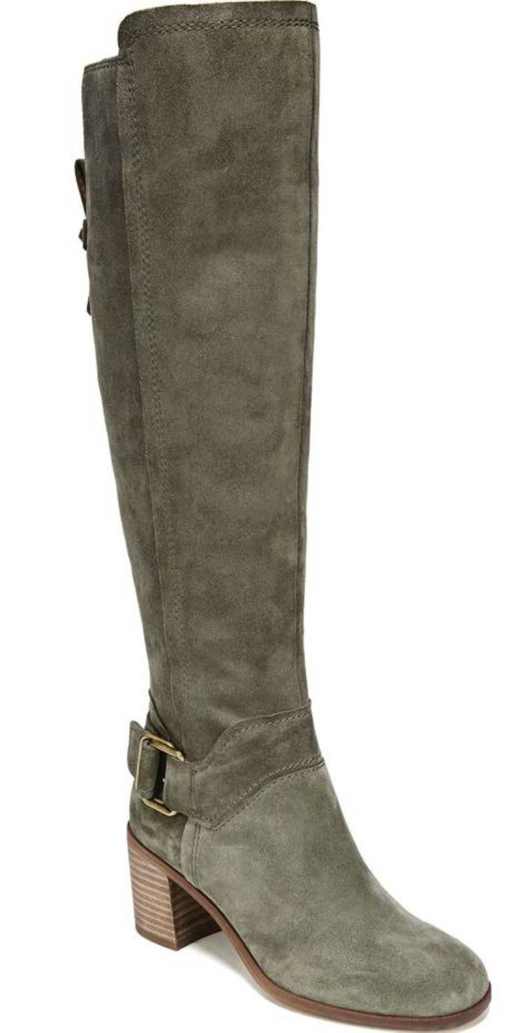 Franco Sarto Women's Mystic Knee High Boot B07B5N2ZF2 5.5 B(M) US|Pastoral Green Suede