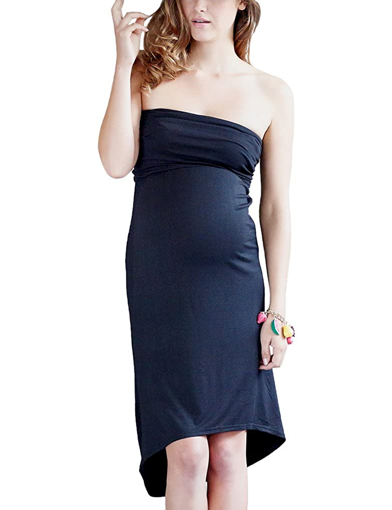 Mothers en Vogue Women's Maternity Convertible Tube Skirt Black Small MEV1725