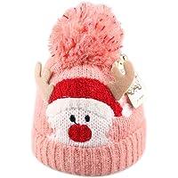 Kentop Lindo Gorros de Navidad de Punto Sombrero