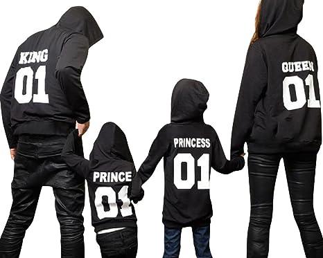 Minetom Hombres Mujeres Niños King Queen Prince PRINCEESS ...