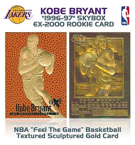 1996 KOBE BRYANT Feel The Game EX-2000 ROOKIE GOLD Card