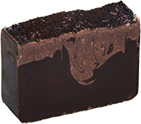 Coffee Scrub Soap Bar (4Oz) with Cocoa and Turkish Mocha fragrance, sensitive skin treatment, Natural Handmade Soap by Falls River Soap