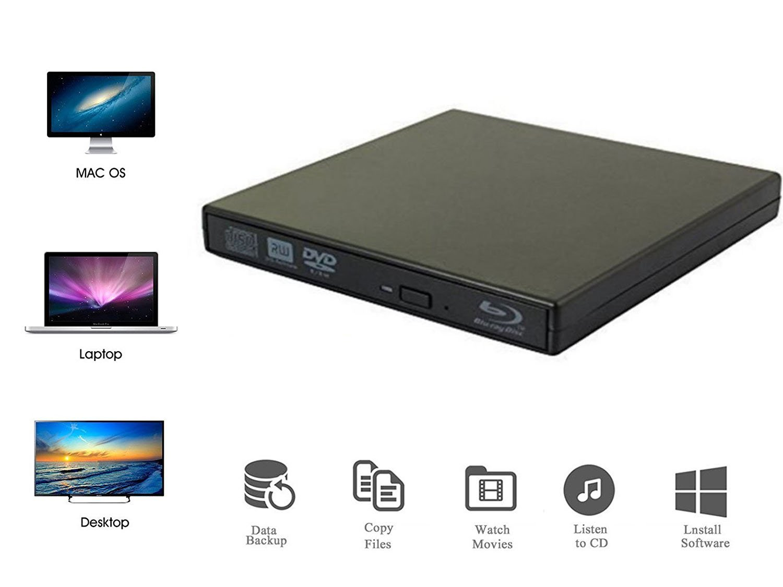 VikTck External Blu Ray DVD Player Drive,USB 2.0 Disc Burner Reader Slim BD CD DVD RW ROM Writer for PC Mac Windows 7 8 10 XP Linxus by VikTck (Image #1)