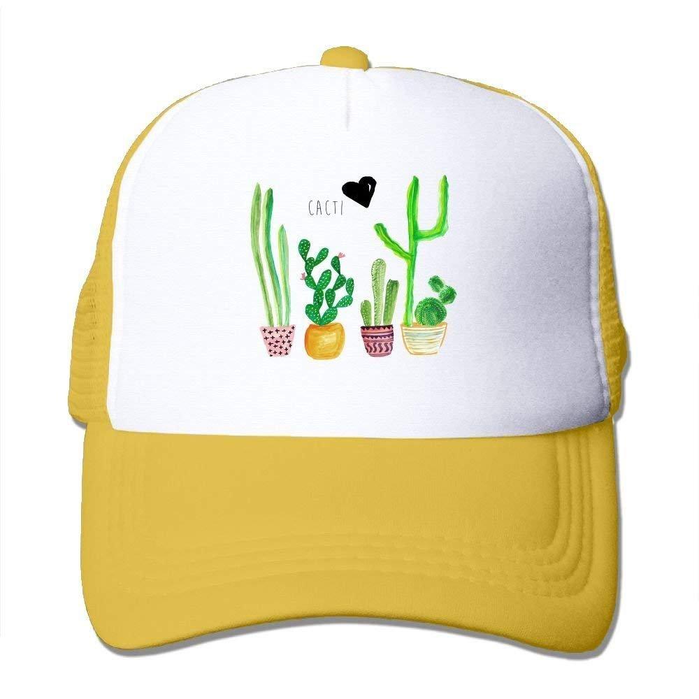JTRVW Cowboy Hats Unisex Cacti Mesh Cap Adjustable Snapback Baseball Caps Adult Trucker Hats for Mens