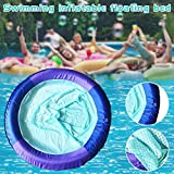 Blueyouth Floating Mesh Recliner, Swimming Pool Floating Chair Mesh Recliner Inflatable Floating Bed Mesh Float for Adults Children Pool Beach Vacation, 95x95 cm