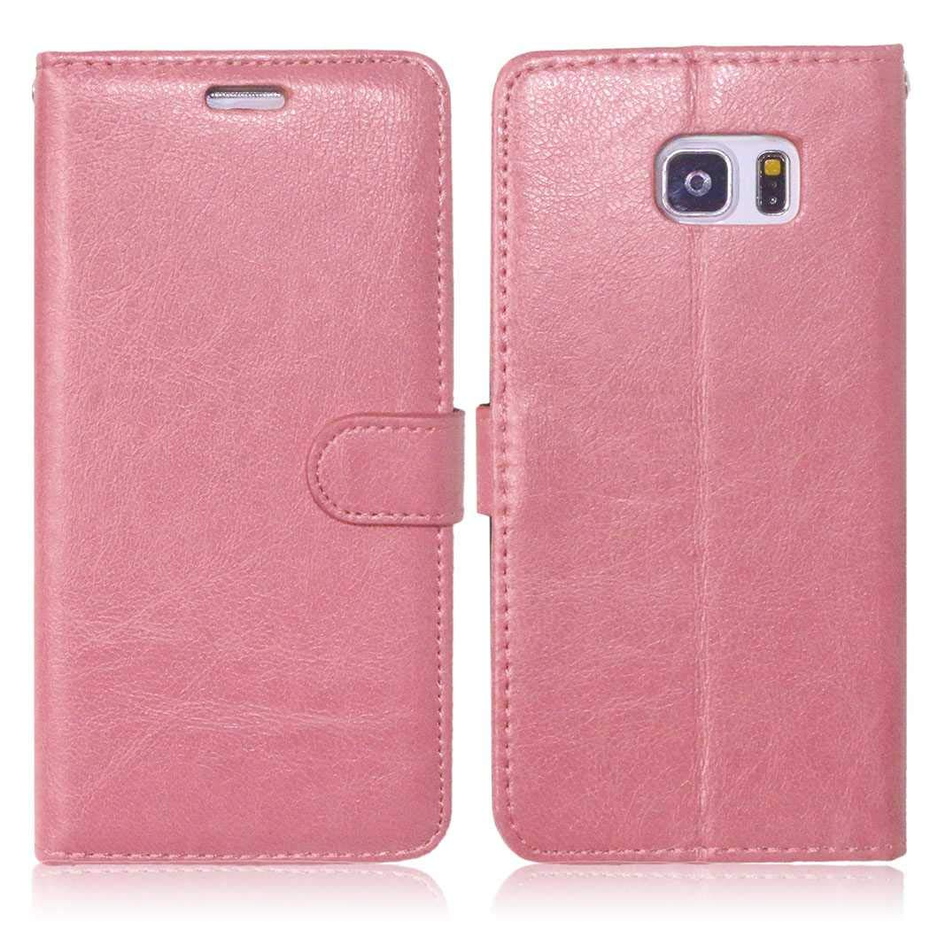 CAXPRO Galaxy Note 5 Case, Shockproof Wallet Cover for Samsung Galaxy Note 5, Slim Leather Notebook Style Case with Soft TPU Inner Bumper, Pink by CAXPRO