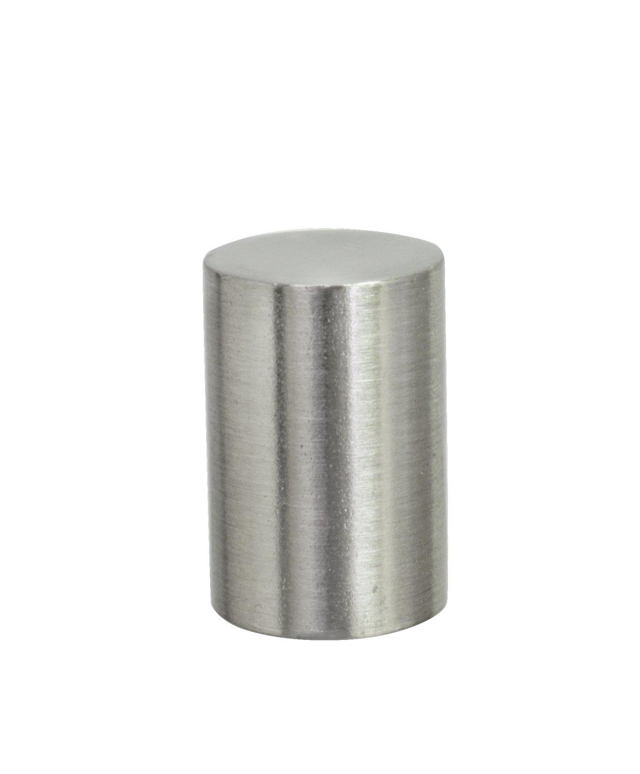 Aspen Creative 24019-21 Steel Lamp Finial Finish, 1 1/4'' Tall (1), 1 PACK, Brushed Nickel