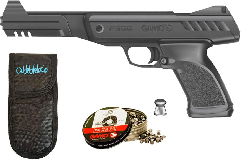 Pack pistola Perdigón Gamo P-900. + Funda Portabalines + balines. 53980/38203/23054