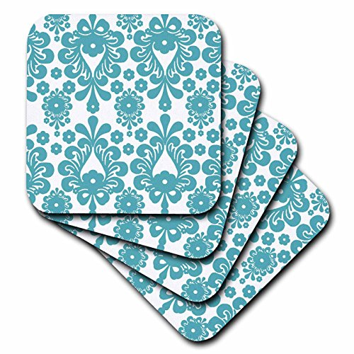 3dRose cst 164508 2 Abstract Floral Coasters