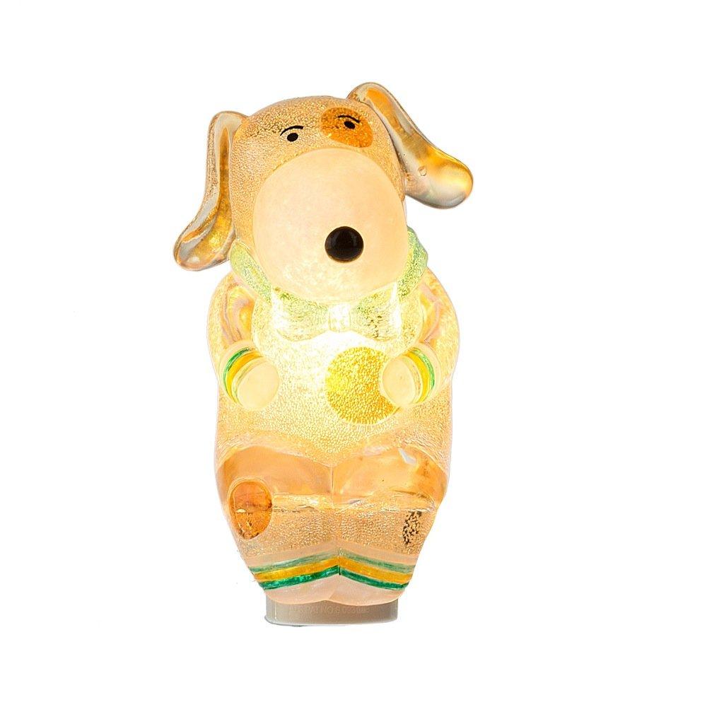Cold Weather犬グリーン2.5 X 5インチアクリルElectric壁プラグインナイトライト B079RM8C2F 14864