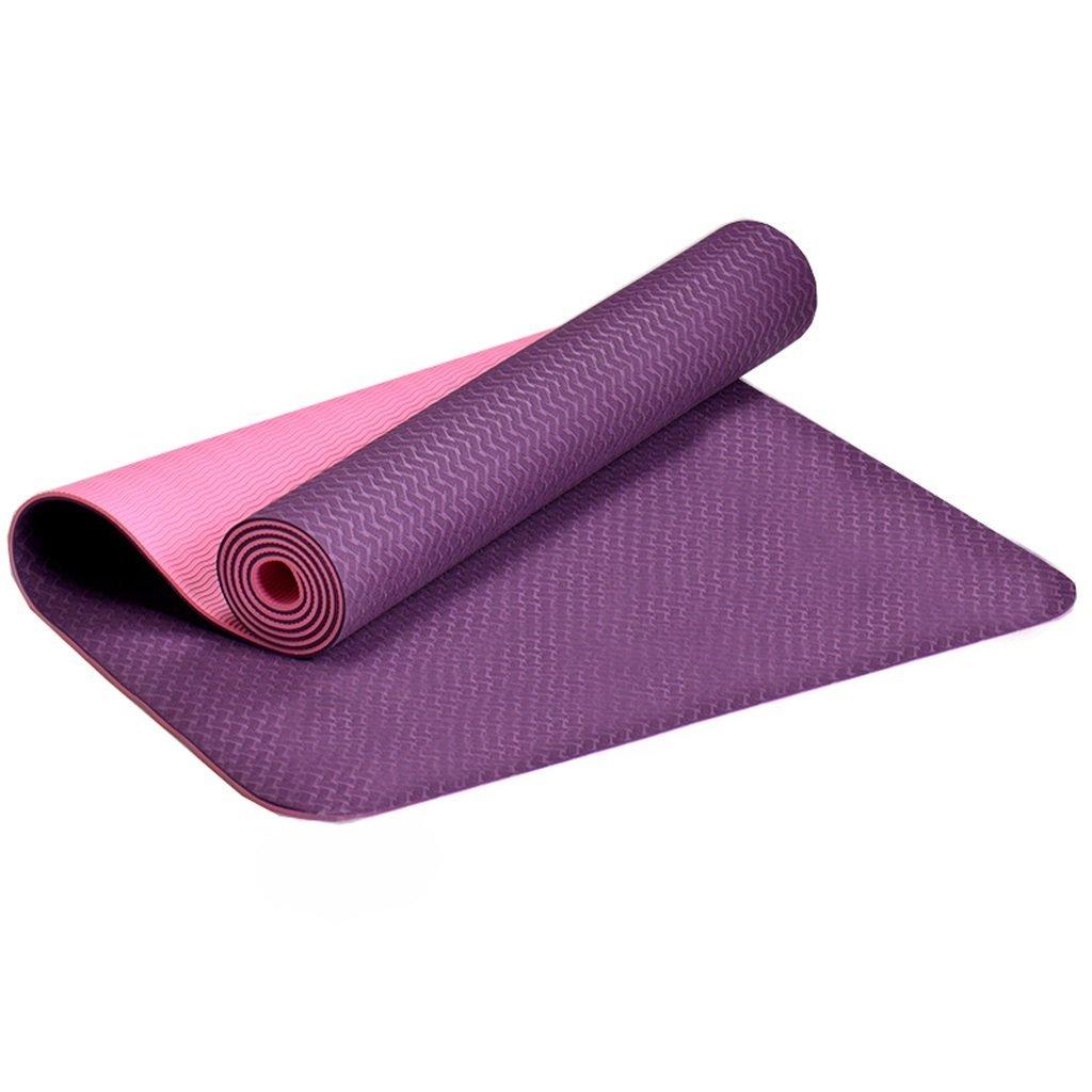 006 QAR Estera De Yoga Inodoro Espesamiento Femenino Ensanchó La Manta De Yoga De Principiante Antideslizante Larga De Tres Piezas Estera de Yoga (Color : Princess Pink)