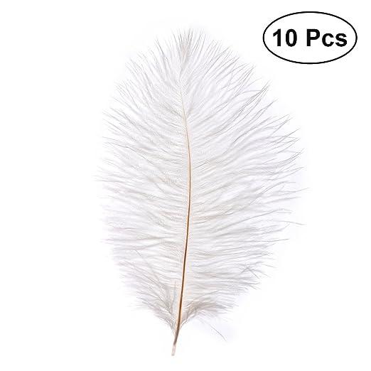 LUOEM 10 unids 20-25 cm Plumas de Avestruz Faux Pluma DIY ...