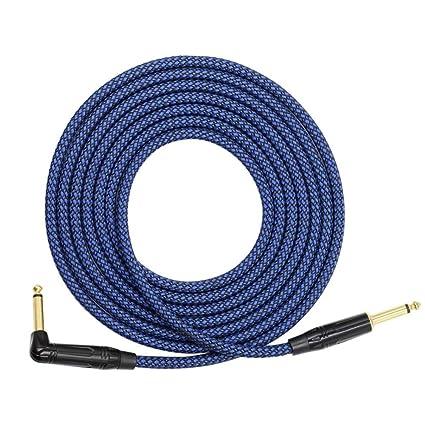 LeKing-Cable de audio para guitarra eléctrica con bajo 1 / 4TS, cable de