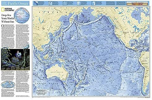 World Ocean Floor, Pacific, tubed National Geographic Reference ...