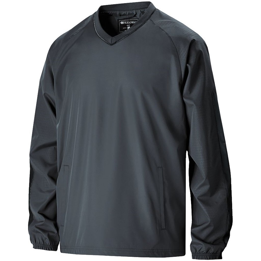 Holloway Youth Bionic Pullover Windshirt (Large, Carbon/Black) by Holloway