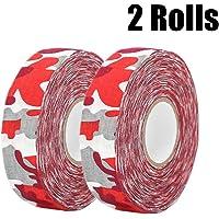 """MEZUT Hockey Tape Cloth Easy to Stretch and Tear,Athletic Sport Hockey, Baseball Tape,1"""" x 27 yd(2 Rolls)"""
