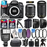 Holiday Saving Bundle for D7100 DSLR Camera + AF-P 70-300mm VR Lens + 18-105mm VR Lens + Backup Battery + 1yr Extended Warranty + Flash + 2 Of Ultra Fast 16GB Class 10 - International Version