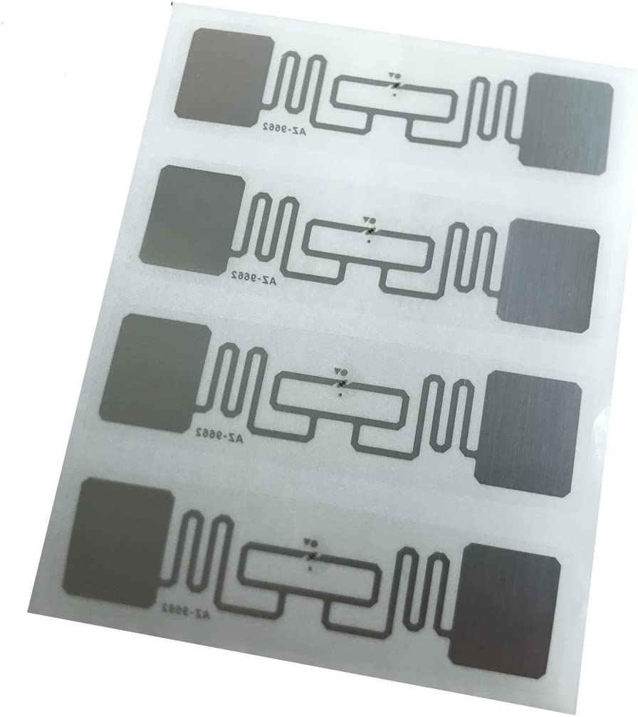 YARONGTECH AZ 9662 860~960MHZ Alien H3 73.5x21.2mm UHF tag Adhesive Tag Inlay RFID Label Pack of 500