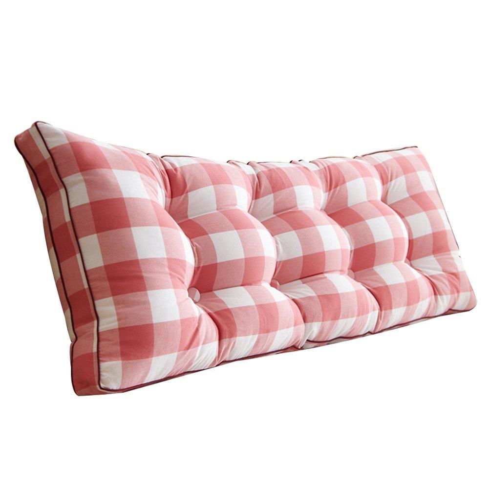 GXY Einfache Gewaschene Baumwolle Bett Kopfkissen Sofa Große Rückenlehne Baumwolle Tatami Bett Weiche Tasche Bett Doppel Lange Kissen Kissen (Farbe : 6#, größe : 120x20x50cm-6 Buckles)