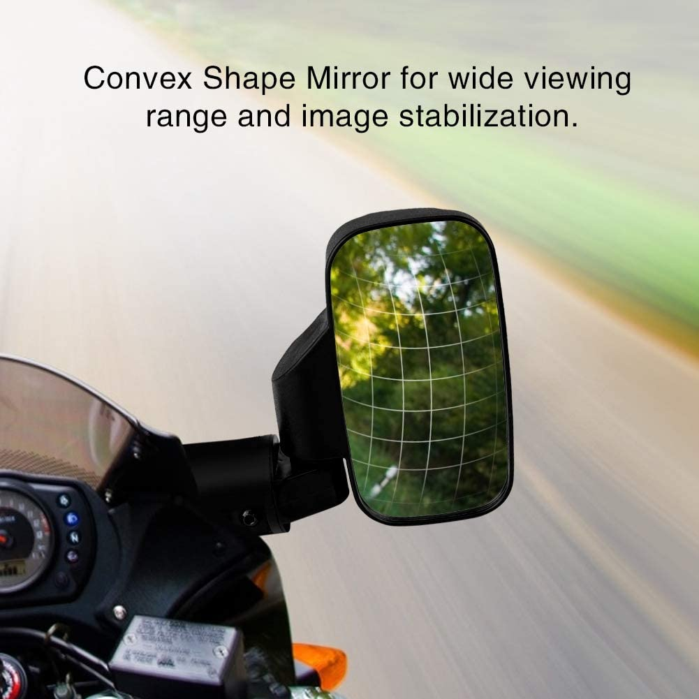 Conception convexe de r/étroviseur lat/éral de moto r/églable pour UTV Polaris Ranger RZR Can-Am 1 paire