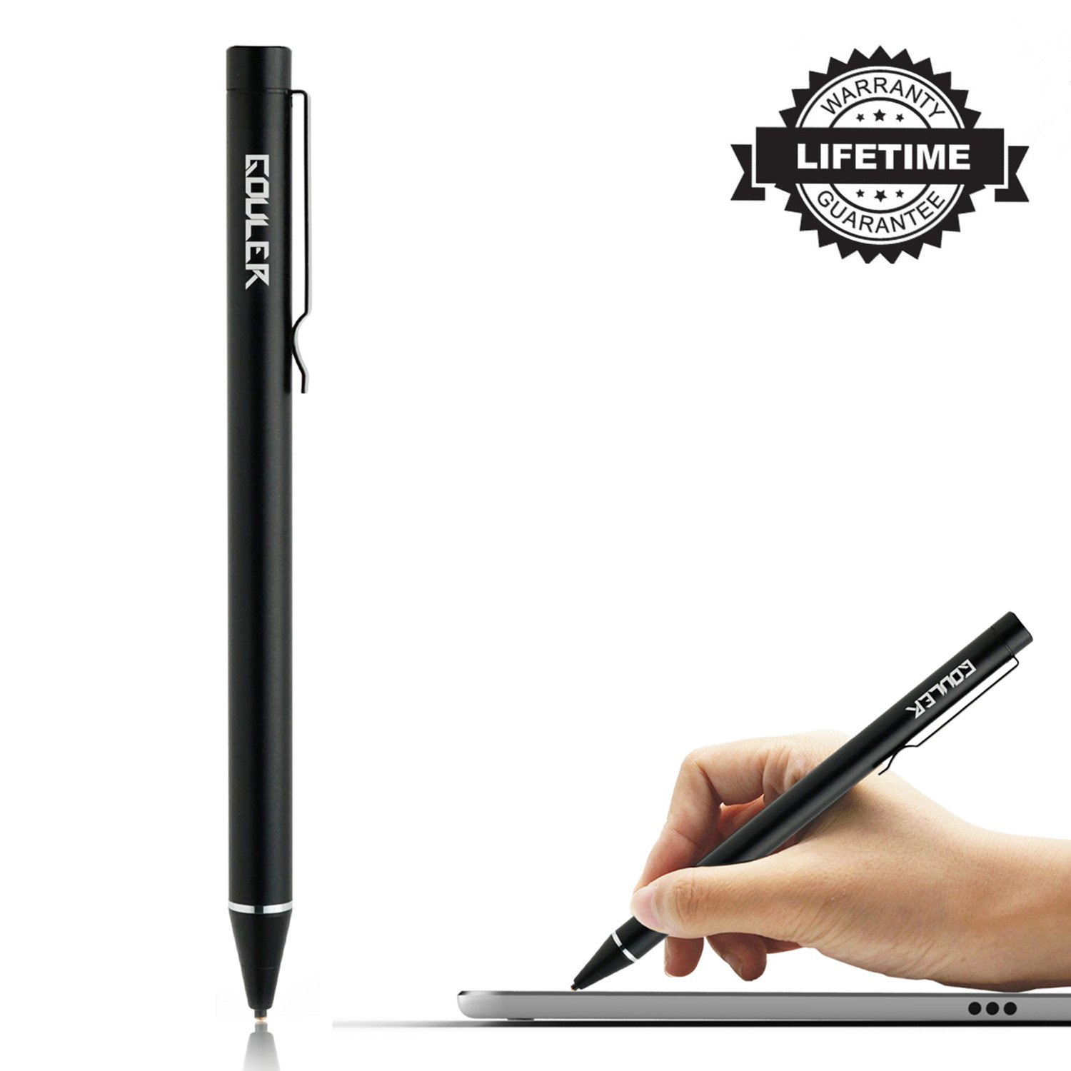 High-Precision Stylus Pen with 1.6mm Fine Tip for iPad/iPhone X/8/8 Plus, Compatible with Samsung Tablets and Other Capacitive Touch Screen Devices, Good for Drawing and Writing on iPad