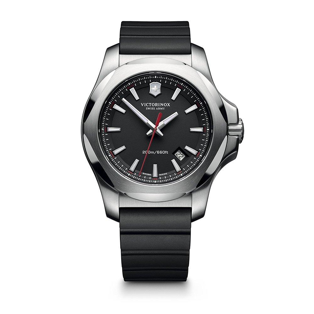 2178b917 Amazon.com: Victorinox Swiss Army I.N.O.X. Rubber Watch, 43mm, Black ...
