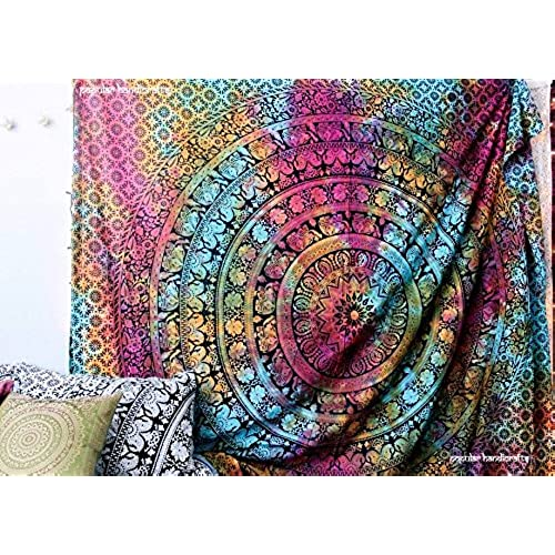 Popular Handicrafts New launched tapestry Popular Twin tye dye Hippie Elephant Mandala Tapestry Indian Traditional Beach Throw Wall Art College Dorm ...  sc 1 st  Amazon.com & Wall Art for Dorms: Amazon.com