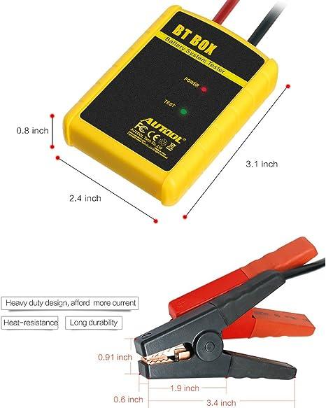 Batterietester 12v Digital Kfz Auto Bluetooth Android Ios Autool Professional Cca 100 2200 Autobatterie Analysator Voltmeter Kurbeln Aufladen Prüfer Für Agm Gel Auto Boot Motorrad Und Mehr Auto