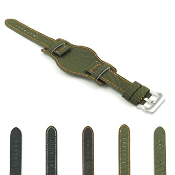 83f154ff7 Image Unavailable. Image not available for. Color: DASSARI Trooper Kevlar  Nylon Bund Watch Band
