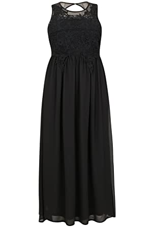 Yours Womens Plus Size Ax Paris Curve Maxi Dress With Mesh Neckline