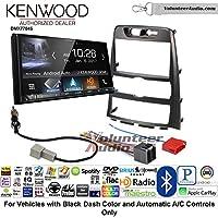 Volunteer Audio Kenwood DMX7704S Double Din Radio Install Kit with Apple CarPlay Android Auto Bluetooth Fits 2009-2012 Hyundai Genesis (Black) (Automatic A/C Controls)