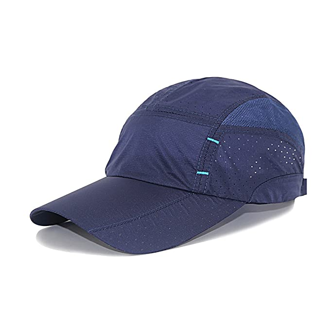 73e320800ee LETHMIK Sport Cap Summer Quick-drying Sun Hat Unisex UV Protection Outdoor  Cap Navy Blue: Amazon.in: Clothing & Accessories