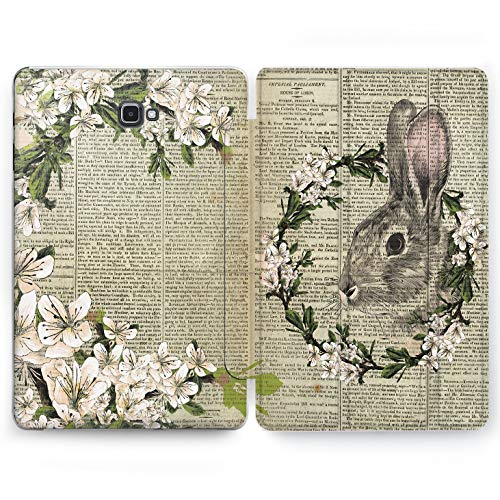 (Wonder Wild Floral Rabbit Samsung Galaxy Tab S4 S2 S3 A Smart Stand Case 2015 2016 2017 2018 Tablet Cover 8 9.6 9.7 10 10.1 10.5 Inch Clear Design Animal)