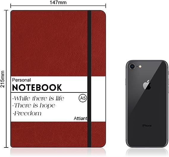 Cuaderno A5, Attiant Cuaderno clásico, Cuaderno Rayas/Lined ...