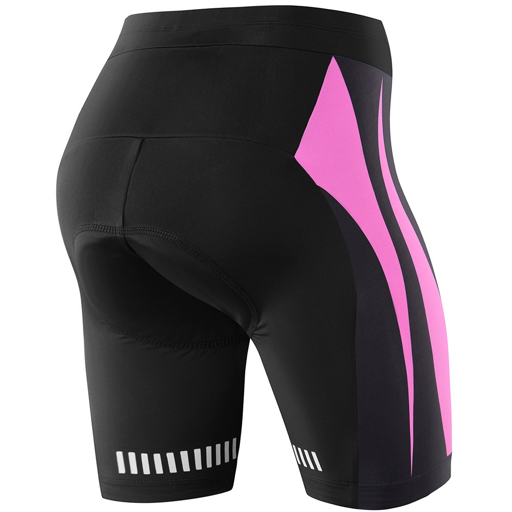 NOOYME Womens Bike Shorts for Cycling with 3D Padded Pink Ride Women Cycling Shorts
