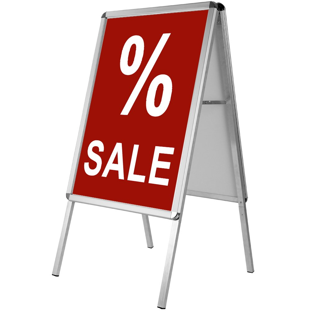 Werbeaufsteller Außenbereich | beidseitig | klappbar | Aluminium ...