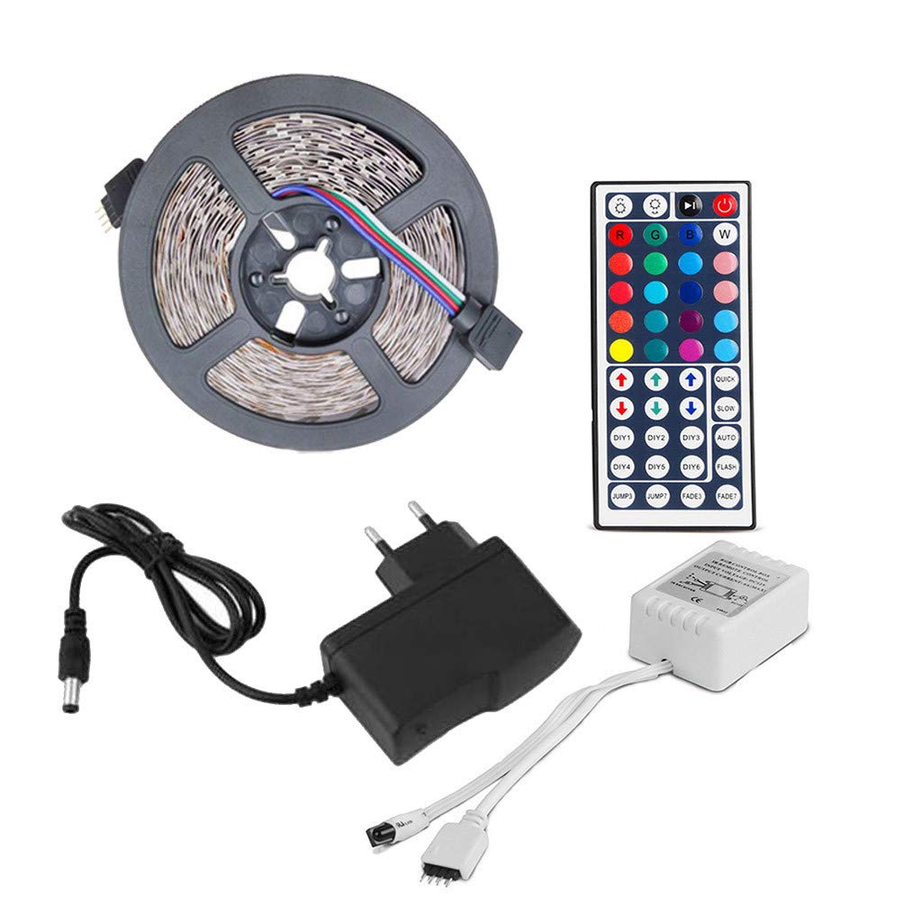 Loneflash LEDs Strip Light 3-Meter No-Waterproof Flexible Color Changing RGB SMD 3528 180 LEDs Strip Light