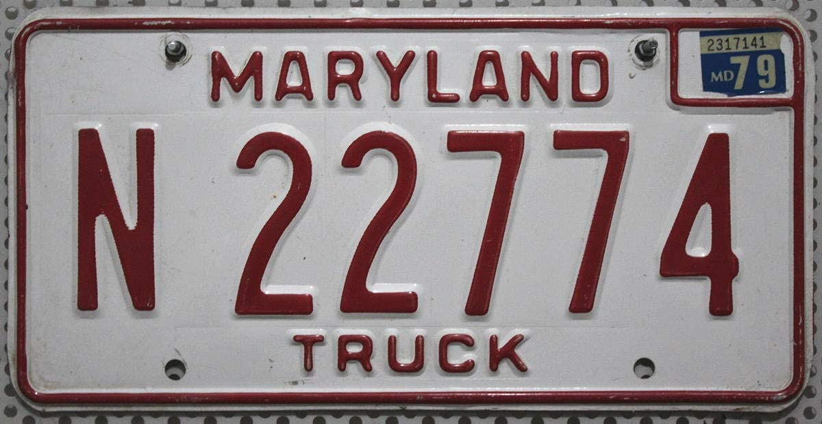 Us Nummernschild Maryland Kennzeichen Usa Oldtimer Schild Blechschild Küche Haushalt